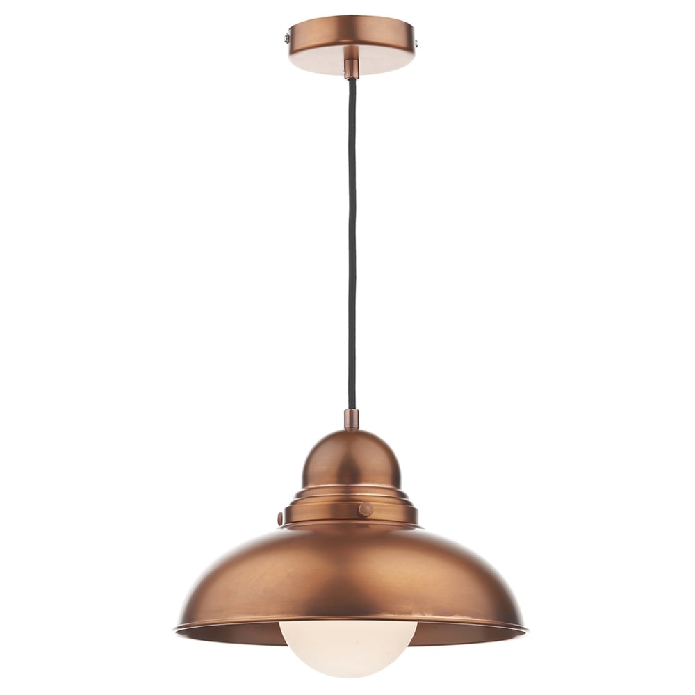 dar lighting dynamo metal pendant light in antique copper fitting