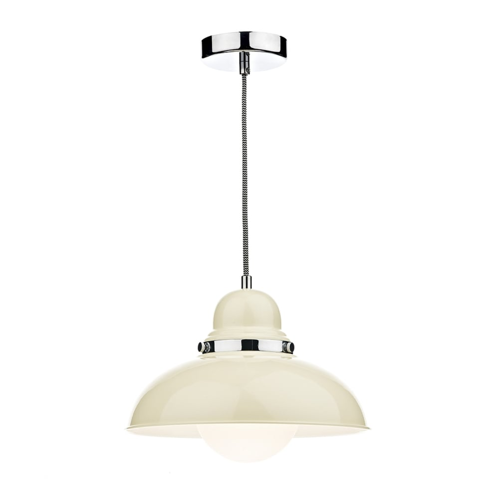 dar lighting dynamo metal pendant light in cream fitting type from