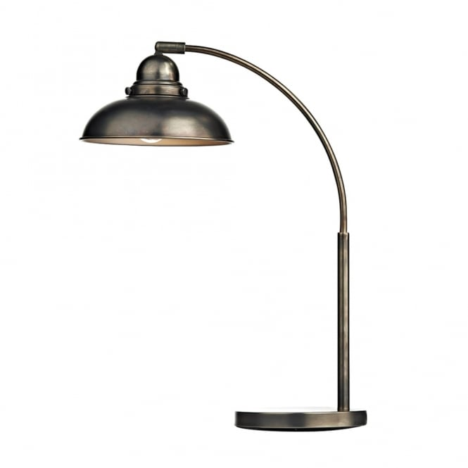 Dar Lighting Dynamo Table Lamp in Antique Chrome