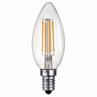 E14 4w LED 400 Lumen Dimmable Candle Lamp