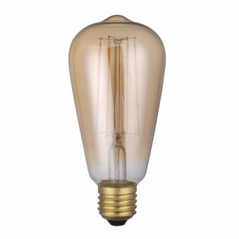 E27 LED Dimmable Vintage Pear Lamp 4W 300 Lumen 1800K