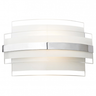 Edge LED Wall Light with Clear and Frosted Glass