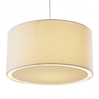 Edward Easy Fit Cream Fabric Shade with Diffuser