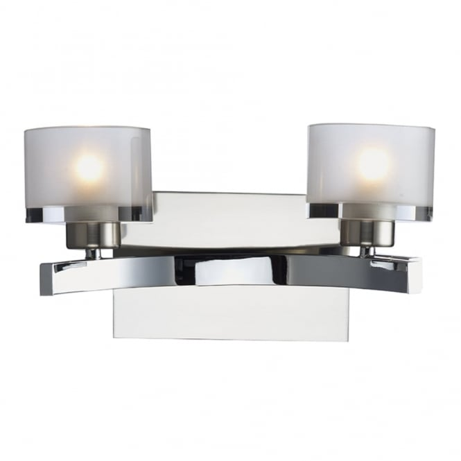 Dar Lighting Eton Double Wall Light in Polished and Satin Chrome