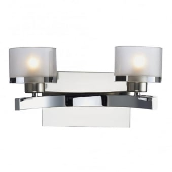 Eton Double Wall Light in Polished and Satin Chrome