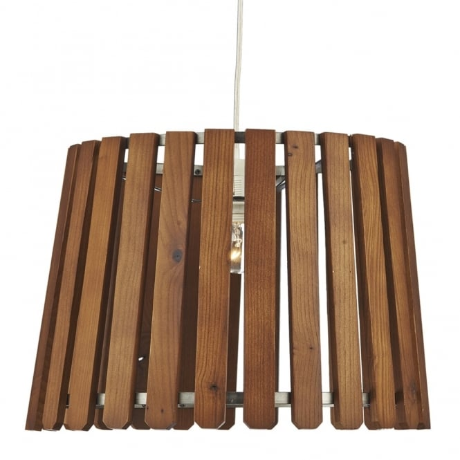 Dar Lighting Fence Wooden Slatted Easy Fit Shade