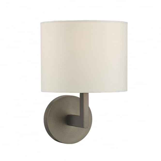 Dar Lighting Ferrara Wall Light with Square Arm in Bronze