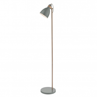 Frederick Floor Lamp in Gloss Grey and Copper