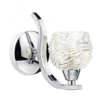 Fuego Single Wall Light in Polished Chrome