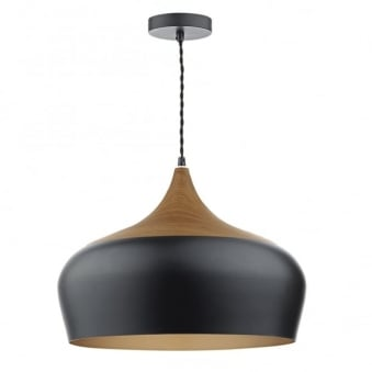 Gaucho Large Pendant in Matte Black