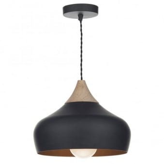 Gaucho Pendant Light in Matte Black