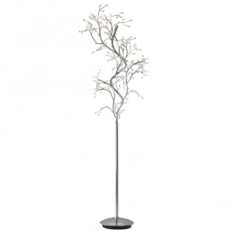 Gazetta 10 Light Floor Lamp in Polished Chrome