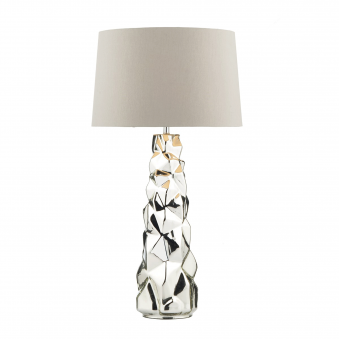 Giuseppe Table Lamp in Silvered Glass