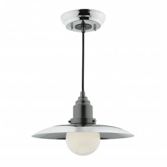 Hannover Single Light Pendant in Antique and Polished Chrome