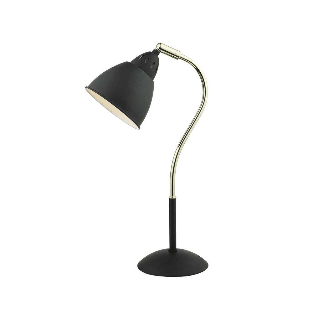 Dar lighting hollywood matt black table lamp fitting type from hollywood matt black table lamp geotapseo Image collections