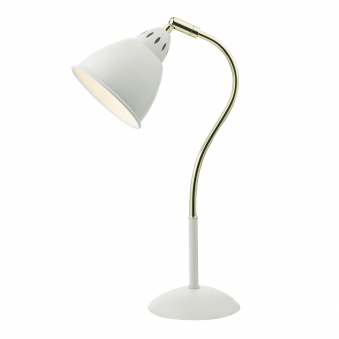Hollywood Matt White Table Lamp