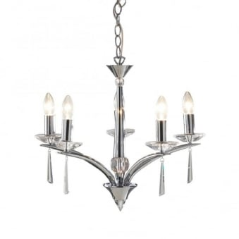 Hyperion 5 Light Pendant in Polished Chrome
