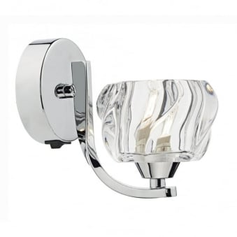 Ivy Single Wall Light in Polished Chrome