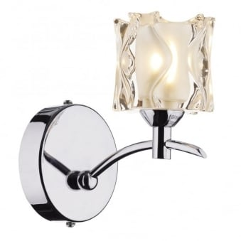 Jacob Single Wall Light in Polished Chrome