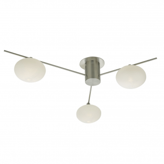 Jasper Three Light Semi Flush Fitting with Opal Glass