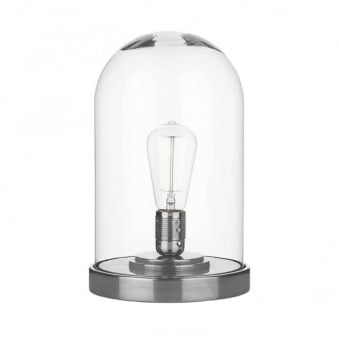 Jefferson Cloche Table Lamp in Pewter