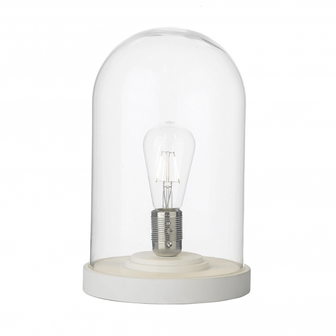Dar Lighting Jefferson Cloche Table Lamp in White