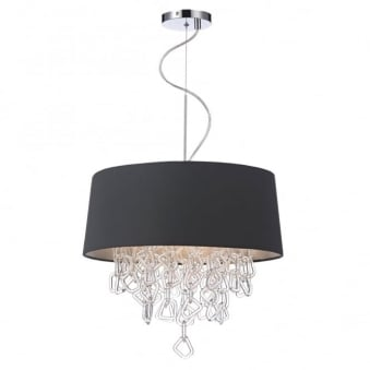Jerome 3 Light Pendant in Grey