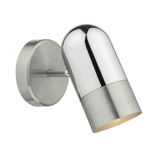 Dar Lighting Kazan Two Tone Chrome Wall Light