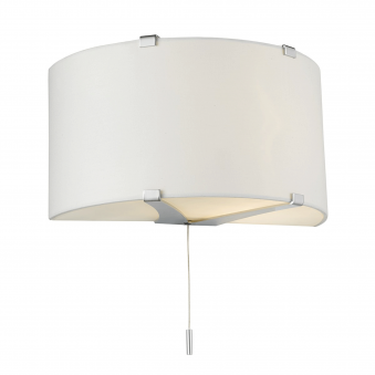 Kennedy White Cotton Wall Light with Diffusers