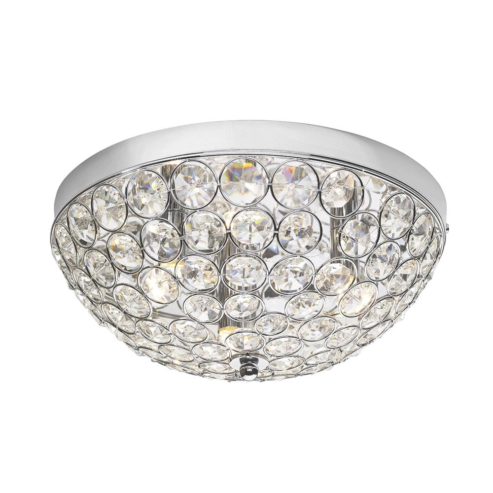 huge selection of 17e63 68ed4 Kyrie Crystal and Chrome Flush Ceiling Light