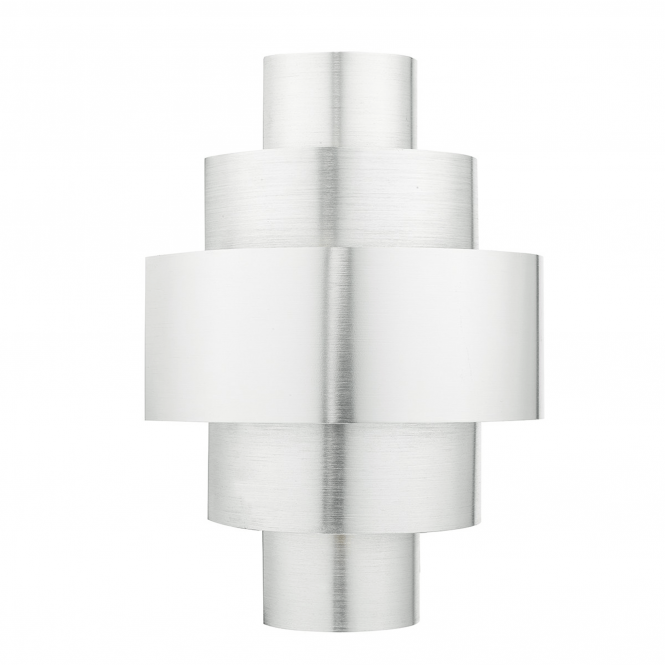 Dar Lighting Lewis Tiered Deco Wall Light in Brushed Aluminium