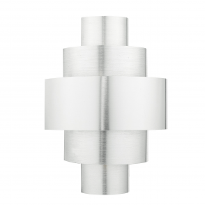 Lewis Tiered Deco Wall Light in Brushed Aluminium