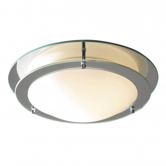 Libra Two Ring Mirror Flush Ceiling Fitting