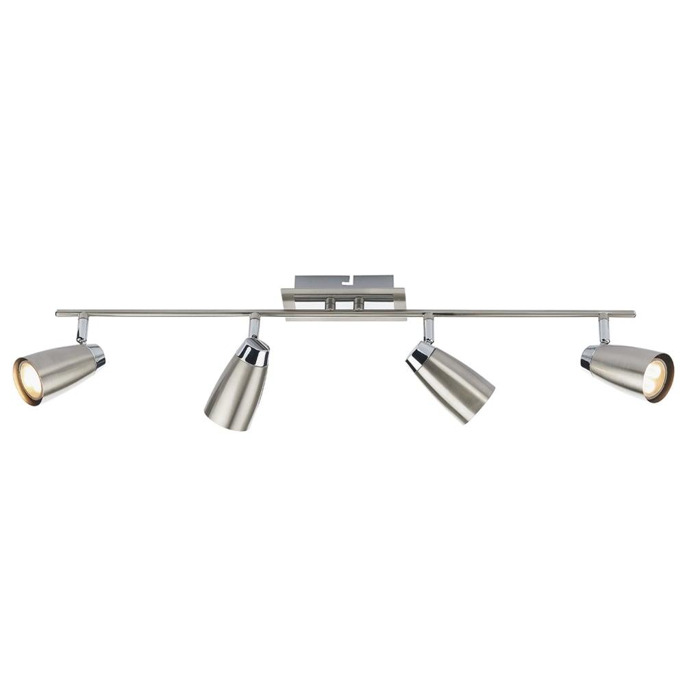 Dar Lighting Loft Four Light Bar Spotlights in Chrome