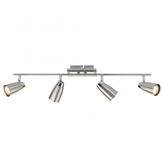 Dar Lighting Loft Four Light Bar Spotlights in Chrome