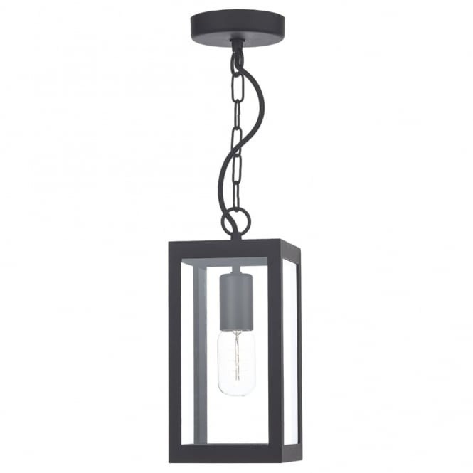 Dar Lighting Lotus Pendant Light in Black