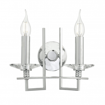 Luzern Wall Light in Crystal and Polished Chrome