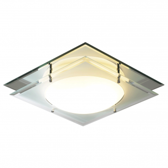 Mantra IP44 Mirrored Flush Ceiling Fitting