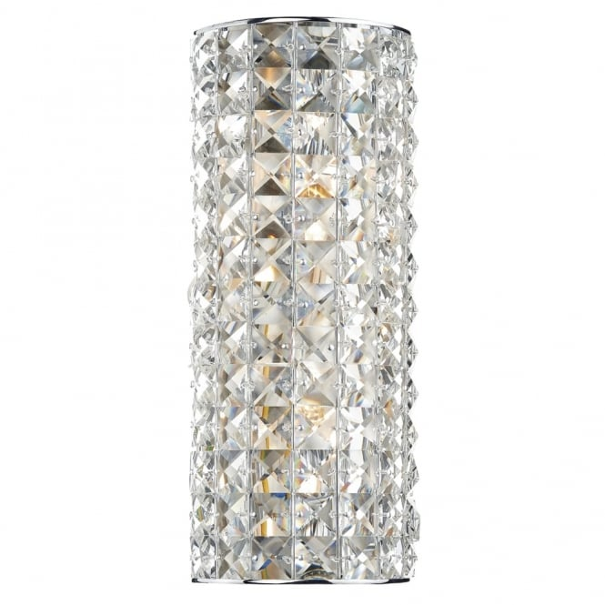 Dar Lighting Matrix Crystal Double Wall Light
