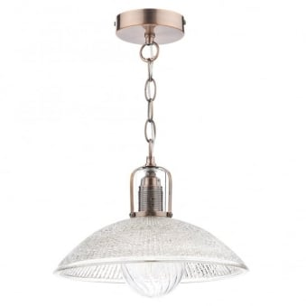 May Pendant with Frosted Glass and Copper Finish