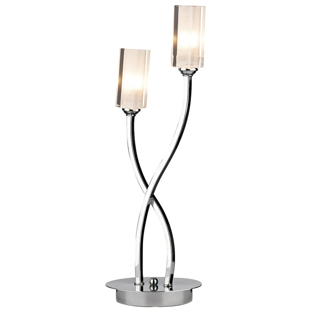 Dar lighting morgan double table lamp in polished chrome fitting morgan double table lamp in polished chrome geotapseo Gallery