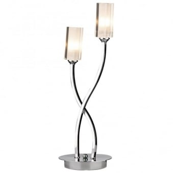Morgan Double Table Lamp in Polished Chrome