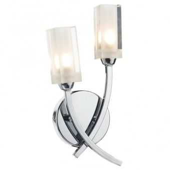 Morgan Double Wall Light in Polished Chrome