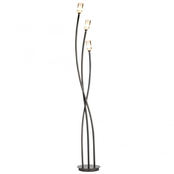 Dar Lighting Morgan Triple Floor Lamp in Black Chrome