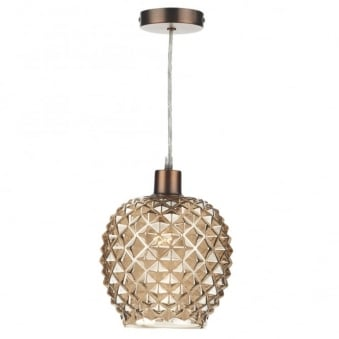 Mosaic Easy Fit Pendant Shade Champagne Glass