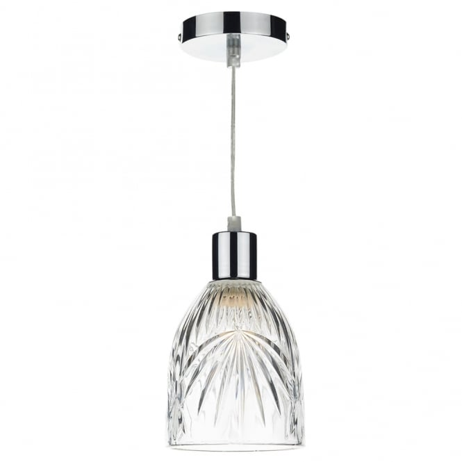 Dar Lighting Motif Easy Fit Pendant Shade in Decorative Glass