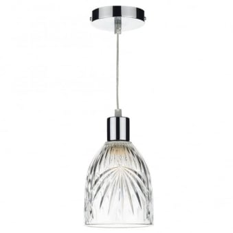 Motif Easy Fit Pendant Shade in Decorative Glass