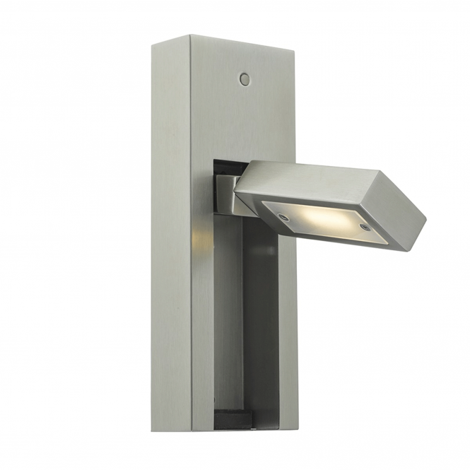 Dar Lighting Mylie LED Reading Wall Light in Satin Chrome