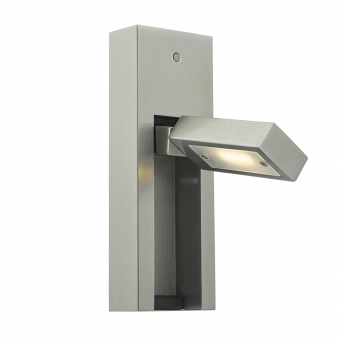 Mylie LED Reading Wall Light in Satin Chrome