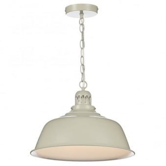 Nantucket Single Light Pendant in Putty